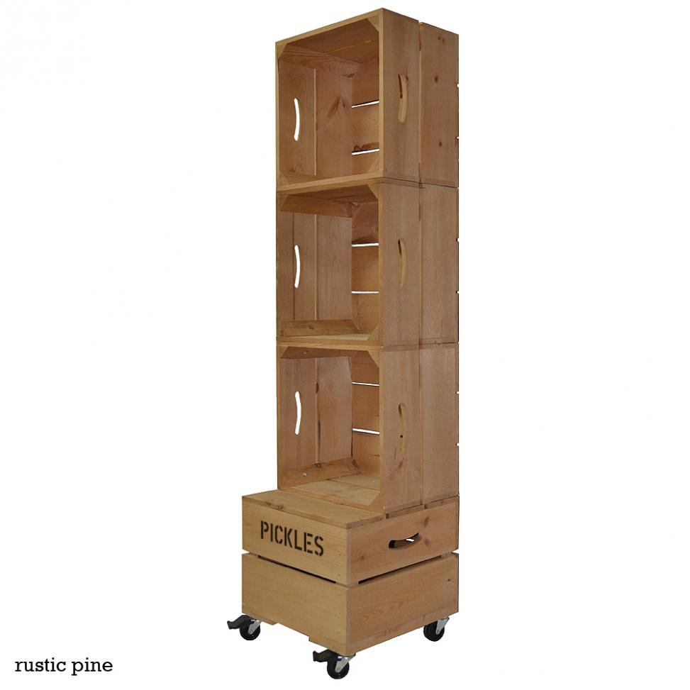 Square Three Crate Shelving Unit
