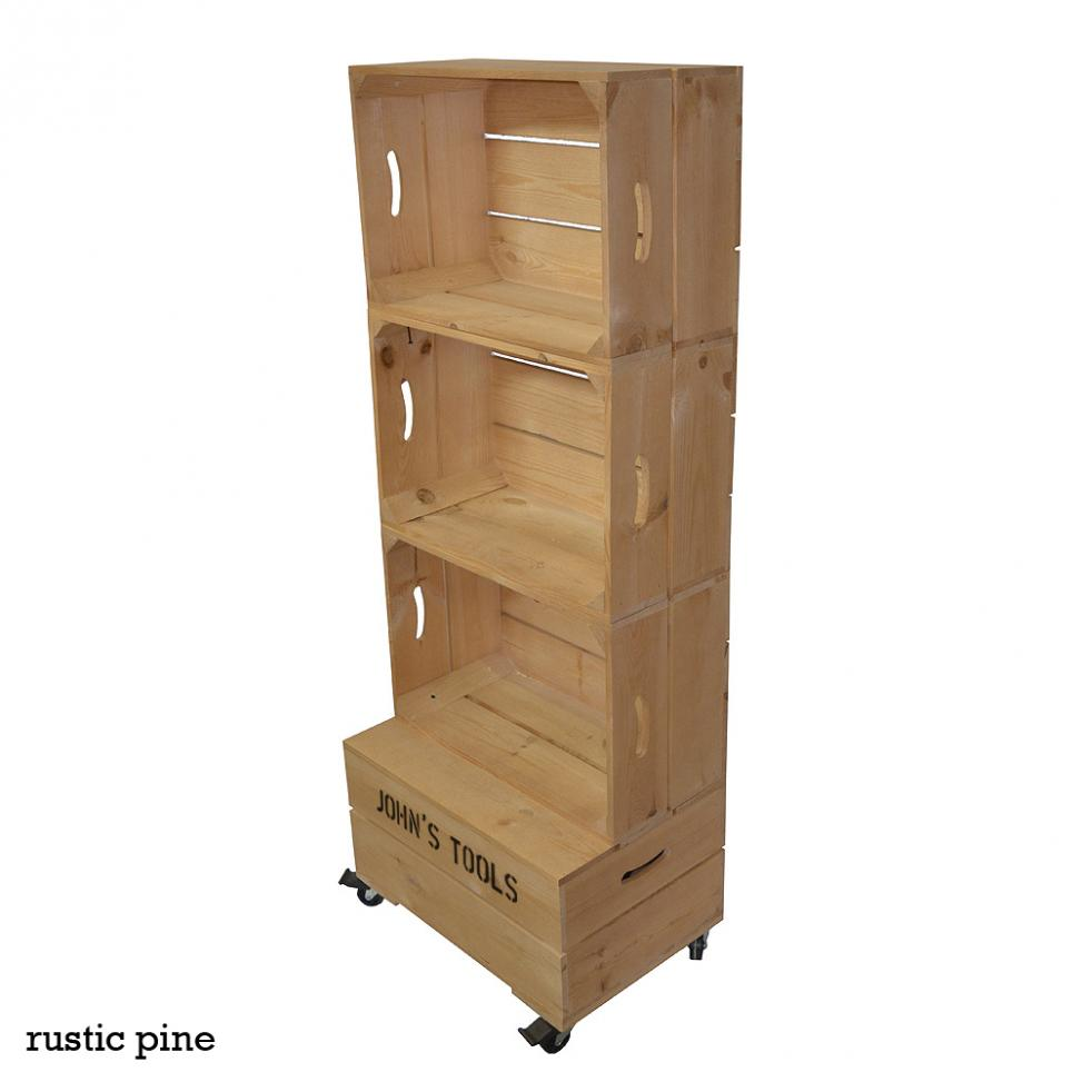 Large Three Crate Shelving Unit