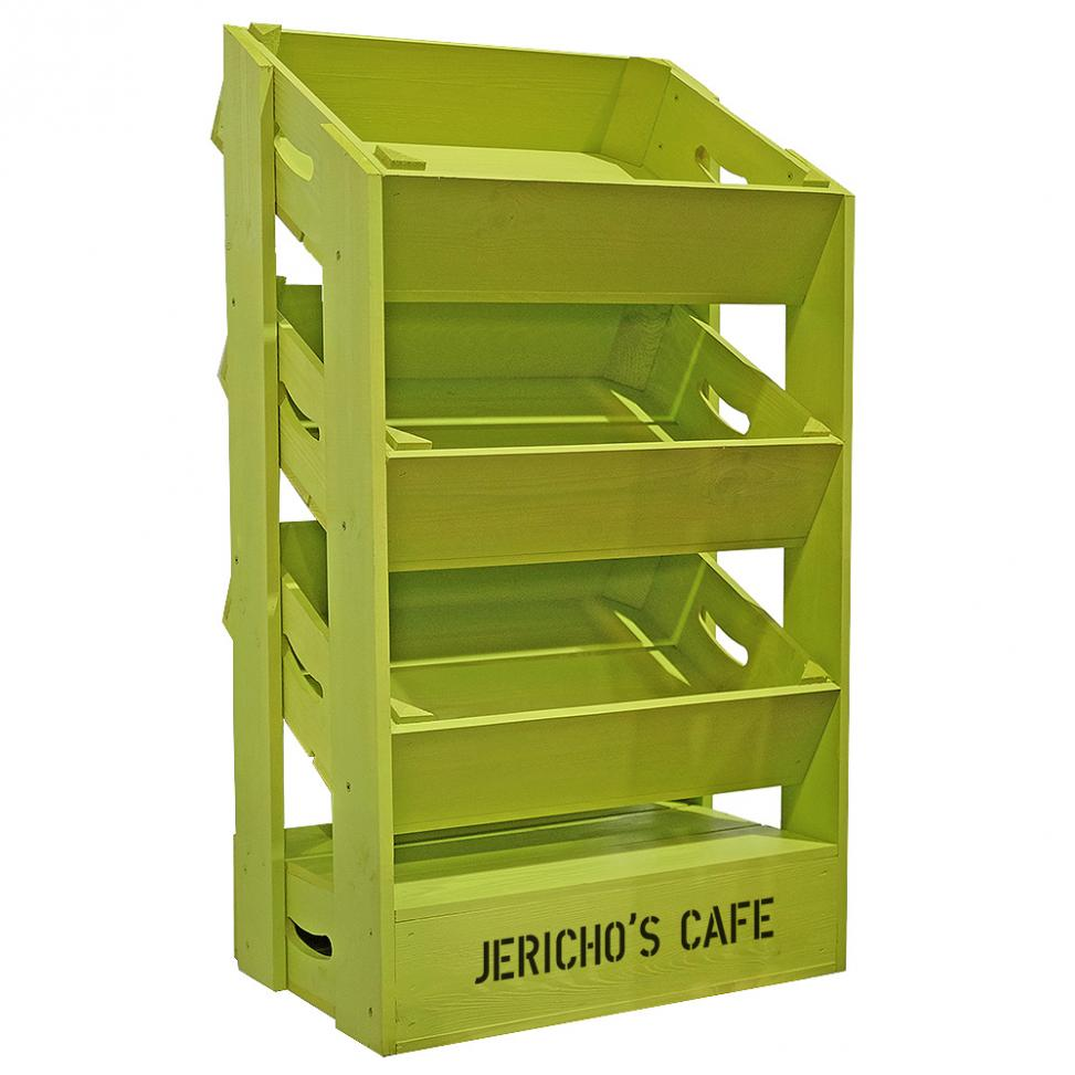 Half Crate Shelving Unit with Header