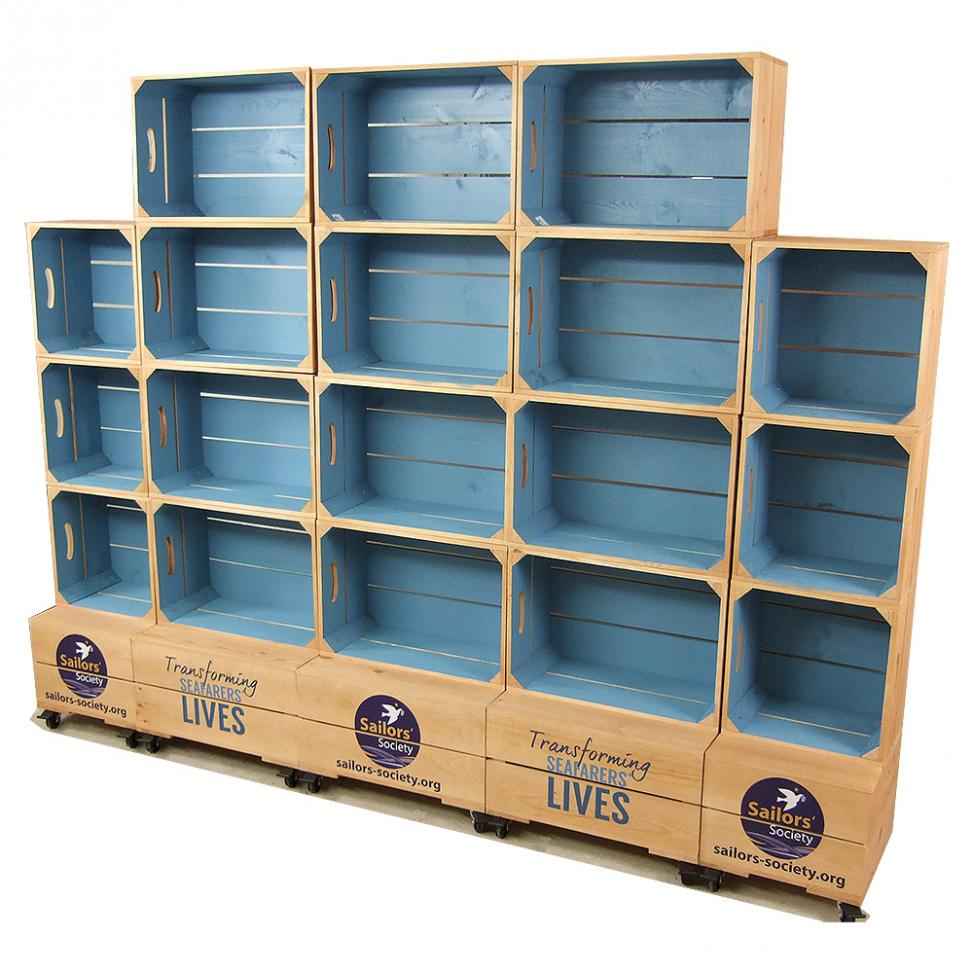 Large Two Tone Crate