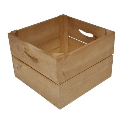 Square Wooden Branded Crate