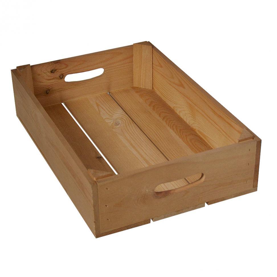 Half Wooden Crate Tray
