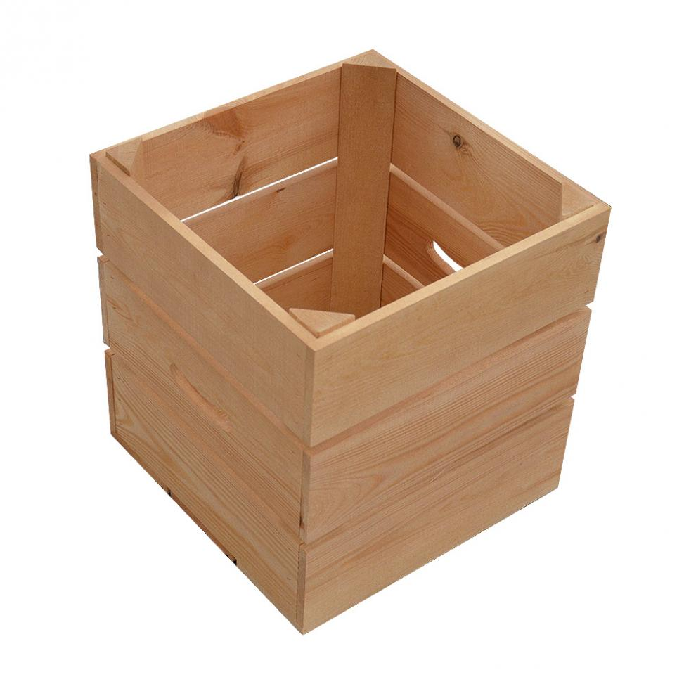 Tall Square Wooden Crate