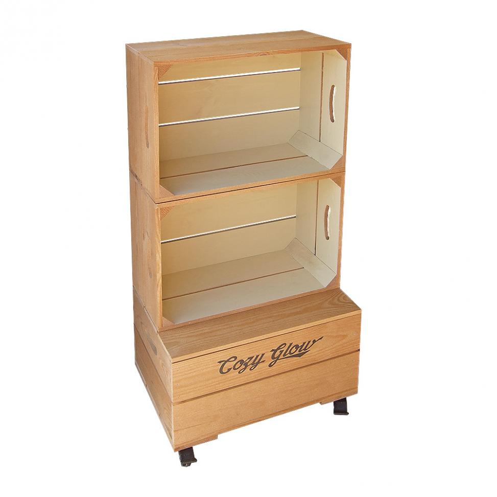 Large Two Crate Shelf Unit - Two Tone