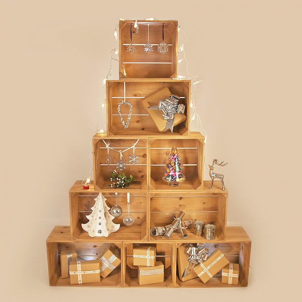 Christmas Crate Tree Retail Display