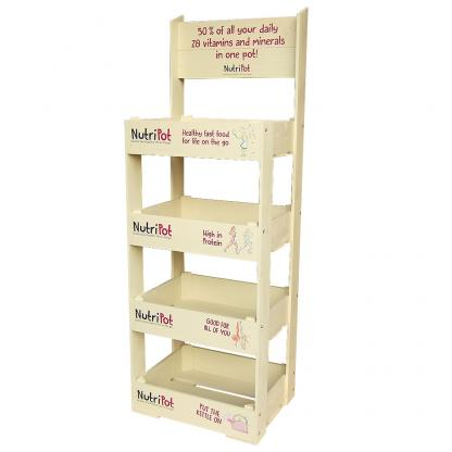 Half Crate Flat Shelf Unit with Header Board