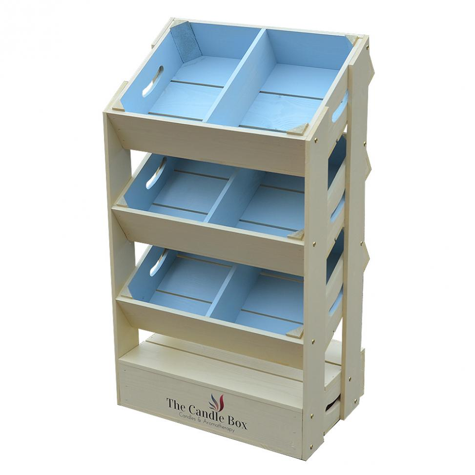 Half Crate Shelf Unit - Two Tone