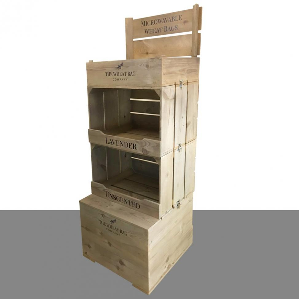 Large Wooden Display Unit