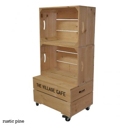 Large Two Crate Shelving Unit