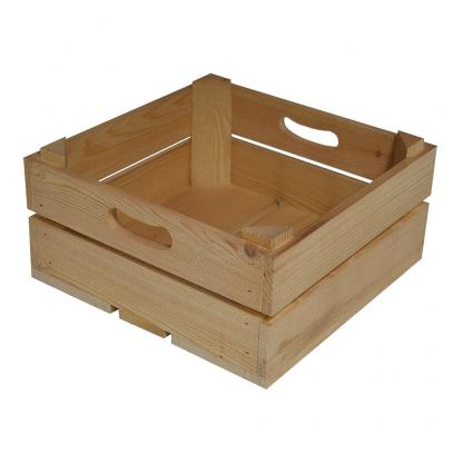 Square Medium Wooden Crate