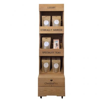 Square Crate Shelving Unit with Header Boards