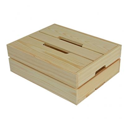 Medium Contemporary Wooden Crate