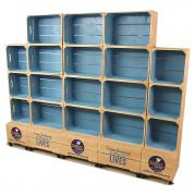 Large Four Crate Shelf Unit - Two Tone
