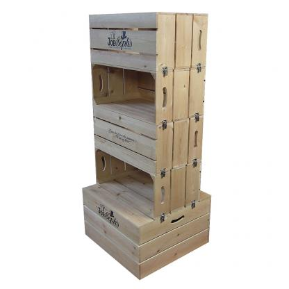 Double Sided 4 Tier Display Unit